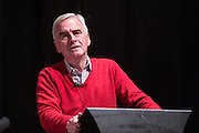 John McDonnell MP, shadow chancellor speaking at the PCS public fringe meeting at TUC congress 2015. Fighting for our future: There is an alternative to austerity.