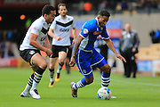 Remie Streete, Nathaniel Mendez-Laing during the Sky Bet League 1 match between Port Vale and Rochdale at Vale Park, Burslem, England on 23 April 2016. Photo by Daniel Youngs.