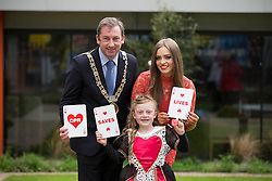 Repro Free: Dublin 14/05/2014<br /> Young Queen of Hearts Lucy O&rsquo;Toole (aged 6), joined the Lord Mayor of Dublin, Ois&iacute;n Quinn and children&rsquo;s TV presenter Diana Bunici to launch this year&rsquo;s Happy Hearts Appeal on behalf of the Irish Heart Foundation supported by SuperValu. The Happy Hearts Appeal is celebrating its 25th year of fundraising to fight heart disease and stroke and it starts, 15th May running until Saturday, 17th May. Over the three days, more than 3,000 volunteers together with SuperValu stores, will be selling happy heart badges for &euro;2 to raise funds to save lives from sudden cardiac arrest and help the Irish Heart Foundation reach it&rsquo;s &euro;500,000 target to deliver a new national CPR education campaign later this autumn. www.happyhearts.ie Picture Andres Poveda<br />  <br /> <br /> For more information contact Caroline Cullen, Communications Manager, Irish Heart Foundation, DL: 01-6346908, Mob: 086-6049282.