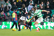 Dundee's Kevin Gomis and Celtic's Emilio Izaguirre - Celtic v Dundee in the Ladbrokes Scottish Premiership at Celtic Park, Glasgow. Photo: David Young<br /> <br />  - © David Young - www.davidyoungphoto.co.uk - email: davidyoungphoto@gmail.com
