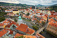 Cesky Krumlov and the Vitava River in the Czech Republic