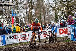 Thijs AL (30,NED), 7th lap at Men UCI CX World Championships - Hoogerheide, The Netherlands - 2nd February 2014 - Photo by Pim Nijland / Peloton Photos