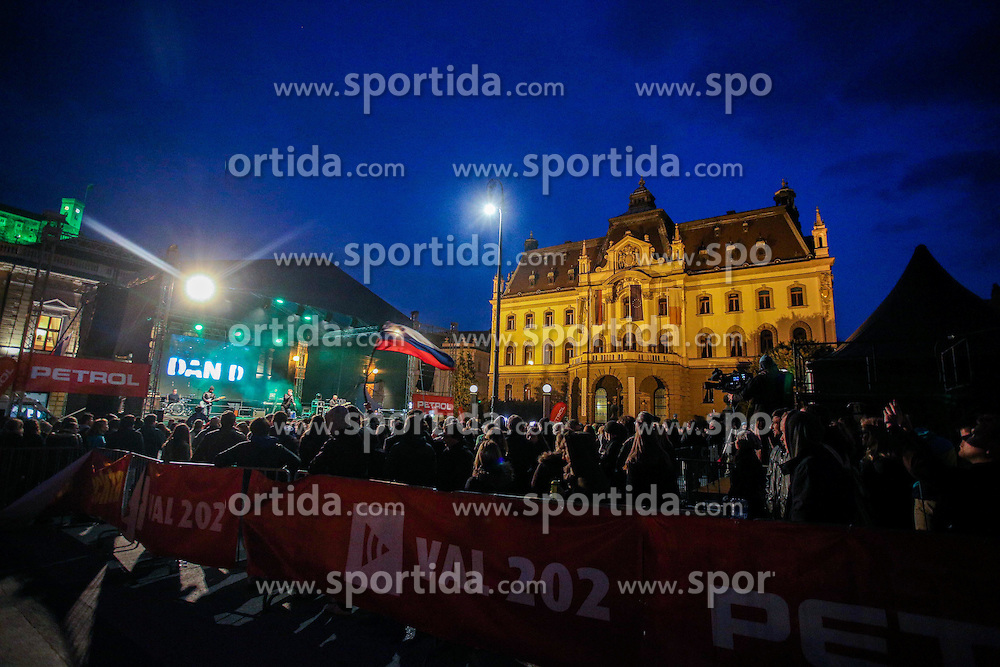Music group Dan D perform during reception of Slovenian Winter athletes after the end of season 2015/16, on March 22, 2016 in Kongresni trg, Ljubljana, Slovenia. Photo by Matic Klansek Velej / Sportida
