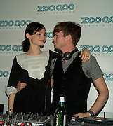 SOPHIE ELLIS-BEXTOR; RICHARD JONES, Launch of ZooQoo.com. Proud Galleries. Chalk Farm Rd. London. 27 August 2008.  *** Local Caption *** -DO NOT ARCHIVE-© Copyright Photograph by Dafydd Jones. 248 Clapham Rd. London SW9 0PZ. Tel 0207 820 0771. www.dafjones.com.
