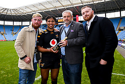 Marcus Watson of Wasps wins the Man of the Match award - Mandatory by-line: Robbie Stephenson/JMP - 12/10/2019 - RUGBY - Ricoh Arena - Coventry, England - Wasps v Worcester Warriors - Premiership Rugby Cup