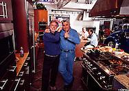 Wayne Eastep with Jay Leno at his Big Dog Garage, Burbank, CA