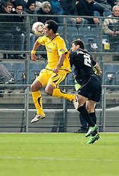 14.12.2011, UPC Arena, Graz, AUT, UEFA Europa League , Sturm Graz vs AEK Athen FC, im Bild Roger Guerreiro (AEK Athen FC, Midfield, #7) und George Popkhadze (SK Puntigamer Sturm Graz, #2) // during UEFA Europa League football game between Sturm Graz and AEK Athens FC at UPC Arena in Graz, Austria on 14/12/2011. EXPA Pictures © 2011, PhotoCredit: EXPA/ E. Scheriau