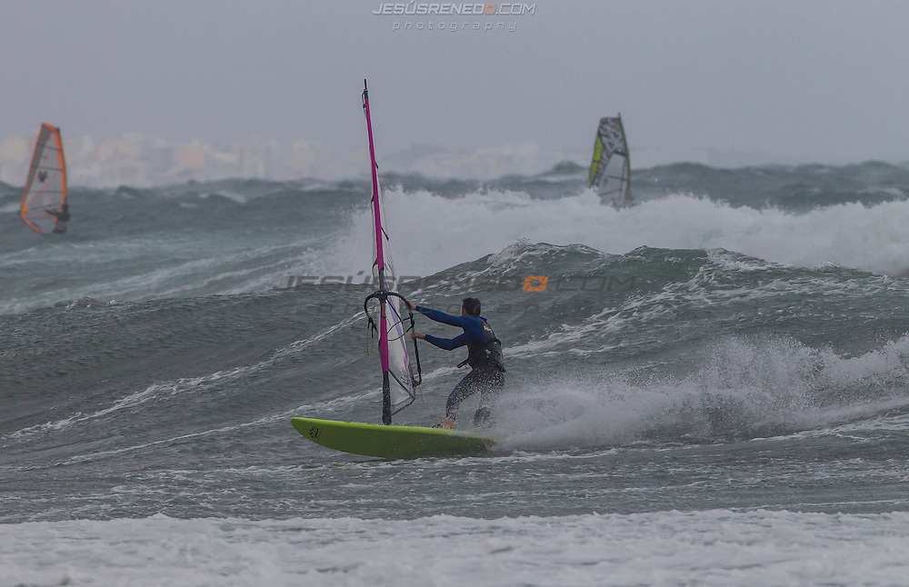 Windsurf November in north Palma de Mallorca