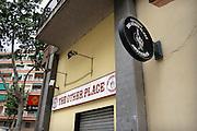 Spanje, Barcelona, 27-5-2007..Een coffeeshop in de wijk Poble Nou die verwijst naar de coffeeshops in Amsterdam..Foto: Flip Franssen