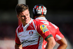 Gloucester Fly-Half (#10) Freddie Burns looks frustrated during the second half of the match - Photo mandatory by-line: Rogan Thomson/JMP - Tel: Mobile: 07966 386802 - 03/10/2013 - SPORT - RUGBY UNION - Kingsholm Stadium, Gloucester - Gloucester Rugby v Exeter Chiefs - Aviva Premiership.