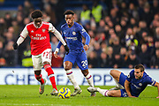 Arsenal midfielder Bukayo Saka (77) during the Premier League match between Chelsea and Arsenal at Stamford Bridge, London, England on 21 January 2020.
