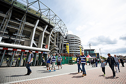 Bath fans soak up the pre match atmosphere - Photo mandatory by-line: Rogan Thomson/JMP - 07966 386802 - 30/05/2015 - SPORT - RUGBY UNION - London, England - Twickenham Stadium - Bath Rugby v Saracens - 2015 Aviva Premiership Final.