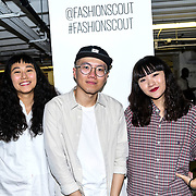 Designer of the FJU Talents Backstate at Fashion Scout - SS19 Day 3, on 15 September 2019, London, UK