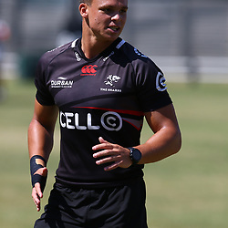 Curwin Bosch during the cell c sharks pre season training session at  Growthpoint Kings Park ,22,01,2018 Photo by Steve Haag)