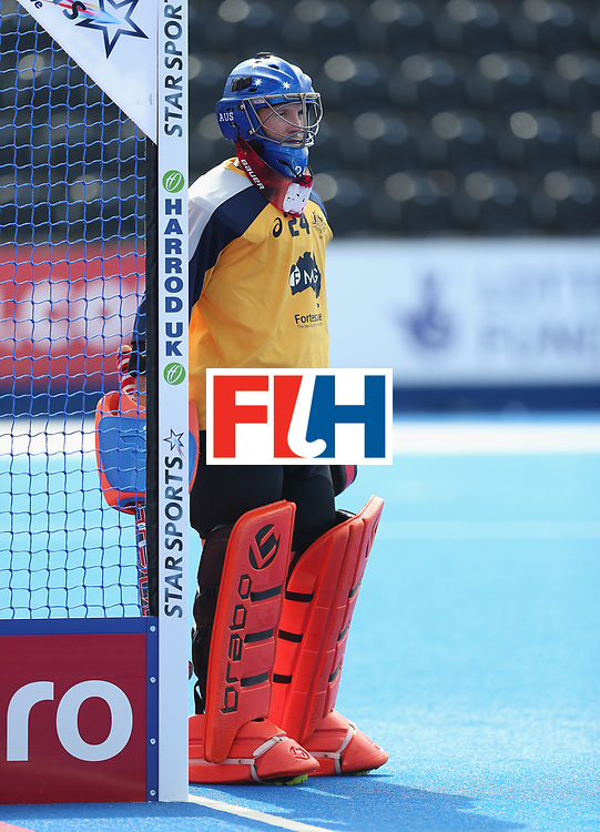 LONDON, ENGLAND - JUNE 16: Tyler Lovell of Australia during the FIH Mens Hero Hockey Champions Trophy match between Australia and India at Queen Elizabeth Olympic Park on June 16, 2016 in London, England.  (Photo by Alex Morton/Getty Images)