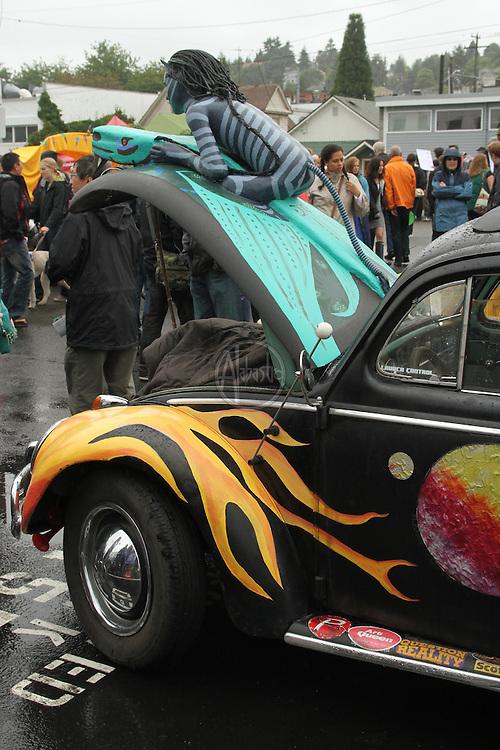 Art Cars at the 40th Annual Fremont Fair.