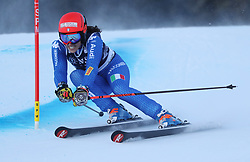 27.01.2018, Lenzerheide, SUI, FIS Weltcup Ski Alpin, Lenzerheide, Riesenslalom, Damen, im Bild Federica Brignone (ITA) // Federica Brignone of Italy in action during the ladie's Giant Slalom of FIS ski alpine world cup in Lenzerheide, Austria on 2018/01/27. EXPA Pictures © 2018, PhotoCredit: EXPA/ Sammy Minkoff<br /> <br /> *****ATTENTION - OUT of GER*****