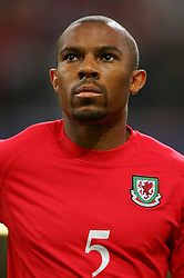CARDIFF, WALES - Wednesday, September 8, 2004: Wales' Daniel Gabbidon lines-up before the Group Six World Cup Qualifier against Northern Ireland at the Millennium Stadium. (Pic by David Rawcliffe/Propaganda)
