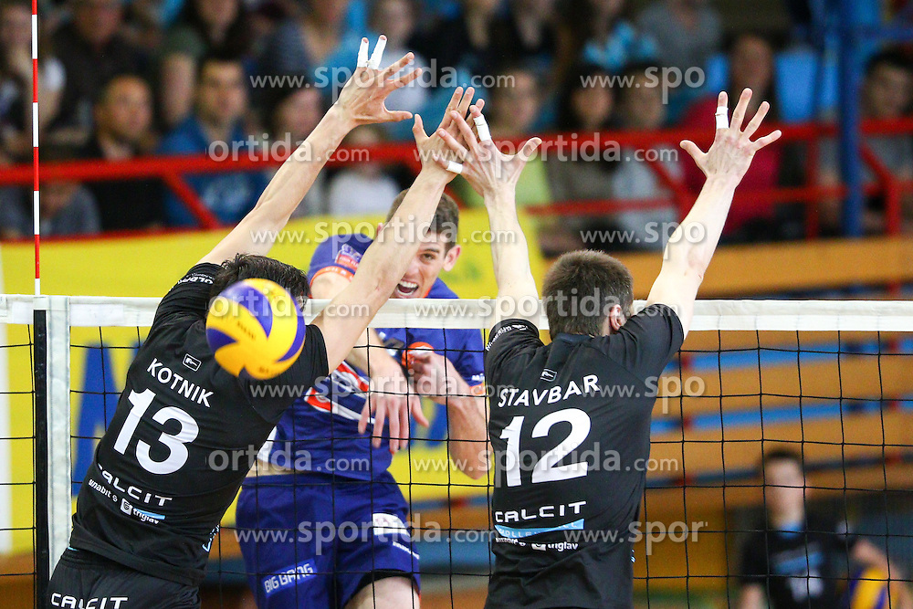 Eric Mochalski of ACH Volley during volleyball match between Calcit Volleyball and ACH Volley in Round #4 of Finals of 1. DOL Slovenian Championship 2014/15, on April 23, 2015 in Sportna Dvorana, Kamnik, Slovenia. Photo by Matic Klansek Velej / Sportida