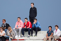 Josip Ilicic (in pink hoody) watching the game during football match between NK Triglav Kranj vs NK Maribor in 13th Round of Prva liga NZS 2012/13, on October 7, 2012 in Sportni park, Kranj, Slovenia. (Photo by Matic Klansek Velej / Sportida.com)