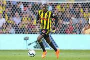 Watford midfielder Abdoulaye Doucoure (16) during the Premier League match between Watford and Manchester United at Vicarage Road, Watford, England on 15 September 2018.