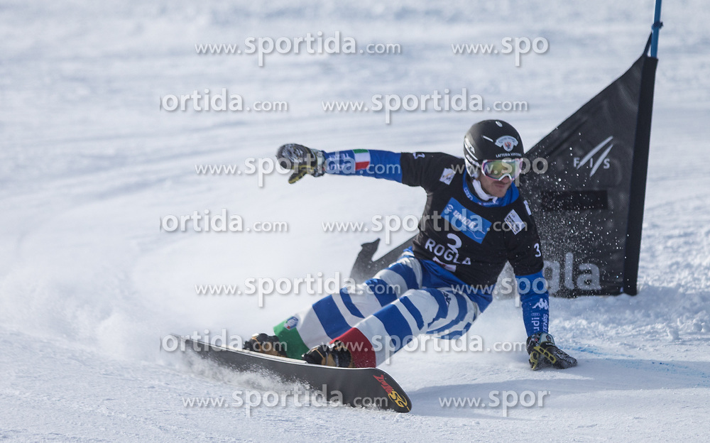 March Aaron during the FIS snowboarding world cup race in Rogla (SI / SLO)   GS on January 20, 2018, in Jasna Ski slope, Rogla, Slovenia. Photo by Urban Meglic / Sportida