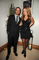 KIMBERLEY WALSH and JUSTIN SCOTT at the launch party for 'Promise', a new capsule ring collection created by Cheryl Cole and de Grisogono held at Nobu, Park Lane, London on 29th September 2010.