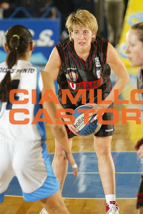 DESCRIZIONE : VENEZIA FINAL FOUR FIBA CUP 2004-2005<br />GIOCATORE : MELAIN<br />SQUADRA : UMANA REYER VENEZIA<br />EVENTO : FINAL FOUR FIBA CUP 2004-2005<br />GARA : UMANA REYER VENEZIA-FAIENCE FAENZA<br />DATA : 09/02/2005<br />CATEGORIA : Palleggio<br />SPORT : Pallacanestro<br />AUTORE : Agenzia Ciamillo-Castoria