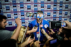 Igor Kokoskov, coach of Slovenia in mixed zone with journalists after the basketball match between National Teams of Slovenia and Spain at Day 15 in Semifinal of the FIBA EuroBasket 2017 at Sinan Erdem Dome in Istanbul, Turkey on September 14, 2017. Photo by Vid Ponikvar / Sportida