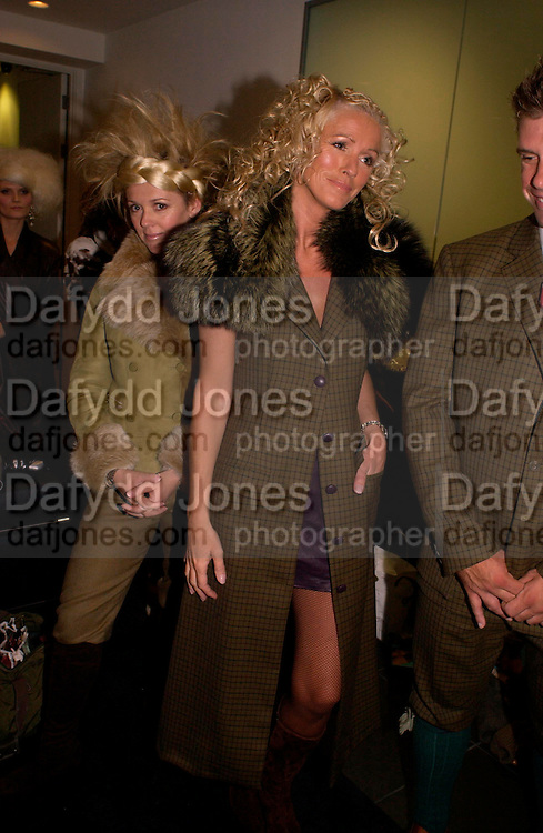 Shirley Robinson and Sharon Pask, Chester Bonham couture fashion show. Park Lane. 15 November 2004. ONE TIME USE ONLY - DO NOT ARCHIVE  © Copyright Photograph by Dafydd Jones 66 Stockwell Park Rd. London SW9 0DA Tel 020 7733 0108 www.dafjones.com