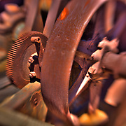 Rusted Drive Gear And Pulley - Motor Transport Museum - Campo, CA - Lensbaby