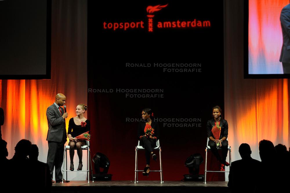 13-12-2010 ALGEMEEN: TOPSPORT GALA AMSTERDAM: AMSTERDAM<br /> In de Westergasfabriek werd het gala van de beste sportman, -vrouw, coach en ploeg gekozen / Rechts Jamile Samuel, talent van het jaar 2010<br /> ©2010-WWW.FOTOHOOGENDOORN.NL