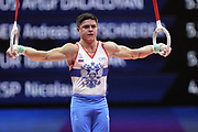 Nikita Nagornyy (Russia) the rings competition during the presentation of the teams during the European Championships Glasgow 2018, Team Men Final at The SSE Hydro in Glasgow, Great Britain, Day 10, on August 11, 2018 - Photo Laurent Lairys / ProSportsImages / DPPI