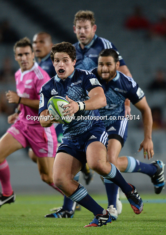 Simon Hickey. Blues v Cheetahs. Investec Super Rugby Season. Eden Park, Auckland, New Zealand. Saturday 22 March 2014. Photo: Andrew Cornaga/Photosport.co.nz