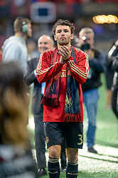 October 21, 2018 - Atlanta, GA, U.S. - ATLANTA, GA - OCTOBER 21: Atlanta United defender Michael Parkhurst (3) thanks the fans after the MLS game between the Atlanta United and the Chicago Fire on October 21, 2018 at the Mercedes-Benz Stadium in Atlanta, GA. Atlanta United FC secured a place in next year's CONCACAF Champions League with a 2-1 victory against the visiting Chicago Fire. (Photo by John Adams/Icon Sportswire) (Credit Image: © John Adams/Icon SMI via ZUMA Press)