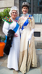 London, July 8th 2017. Thousands of LGBT+ revellers take part in the annual Pride in London parade under the banner #LoveHappensHere. PICTURED: 'Royalty' arrive at Pride 2017