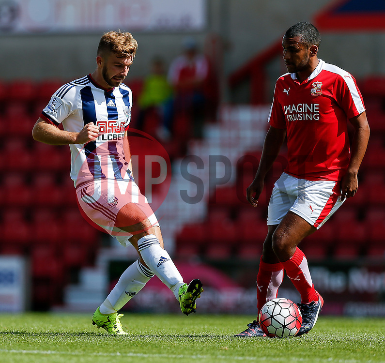 James Morrison of West Brom - Mandatory byline: Rogan Thomson/JMP - 07966 386802 - 25/07/2015 - SPORT - Football - Swindon, England - The County Ground - Swindon Town v West Bromwich Albion - 2015/16 Pre Season Friendly.