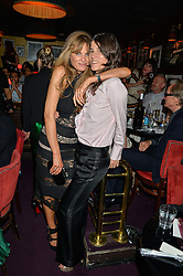 Left to right, JEMIMA KHAN and BELLA FREUD at Hoping's Greatest Hits - the 10th Anniversary of The Hoping Foundation's charity benefit held at Ronnie Scott's, 47 Frith Street, Soho, London on 16th June 2016.
