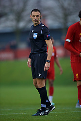 KIRKBY, ENGLAND - Wednesday, November 27, 2019: Referee Tihomir Pejin during the UEFA Youth League Group E match between Liverpool FC Under-19's and SSC Napoli Under-19's at the Liverpool Academy. (Pic by David Rawcliffe/Propaganda)