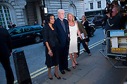 SHAKIRA CAINE; MICHAEL CAINE; NIKKI CAINE, Is Anybody here film premiere. Curzon Mayfair. London. 29 April 2009