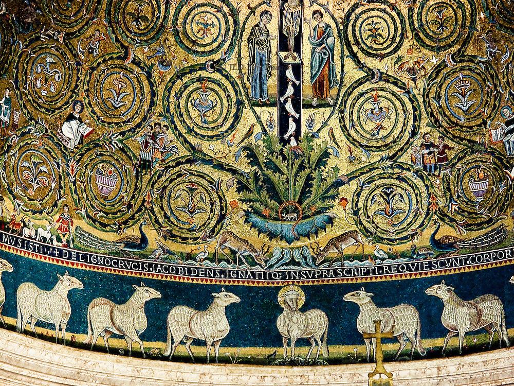 San Clemente, mosaic detail