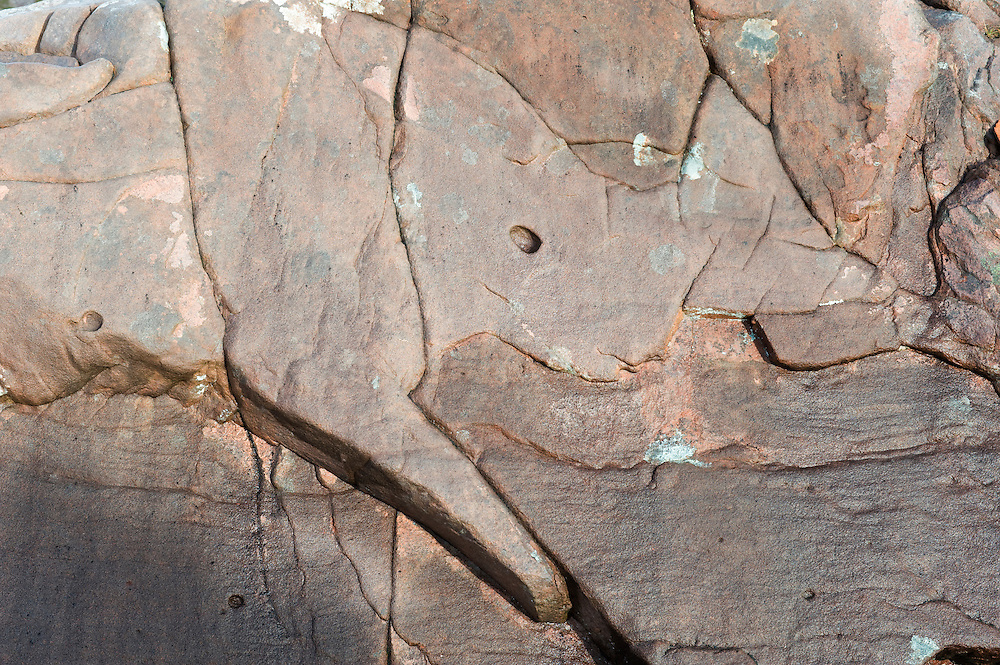 Imagined rhino shape in a rock slab above Coire an Arr, Wester Ross, Scotland