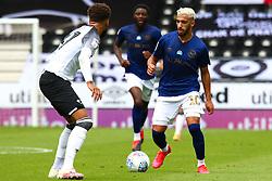 Said Benrahma of Brentford looks to get past Jayden Bogle of Derby County - Mandatory by-line: Ryan Crockett/JMP - 11/07/2020 - FOOTBALL - Pride Park Stadium - Derby, England - Derby County v Brentford - Sky Bet Championship