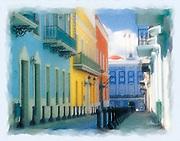 Fortaleza Street, Old San Juan painting