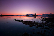 Sunset afterglow Castle Stalker, appin, Argyll
