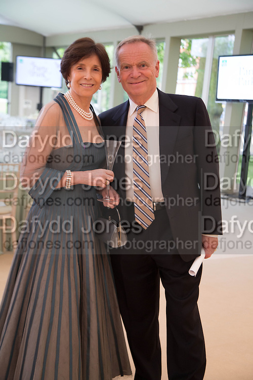 MARY ARCHER; JEFFREY ARCHER, Art Antiques London Party in the Park, in aid of Great Ormond Street Hospital Childrens Charity. Kensington Gdns opposite the Albert Hall. London. 11 June 2013.