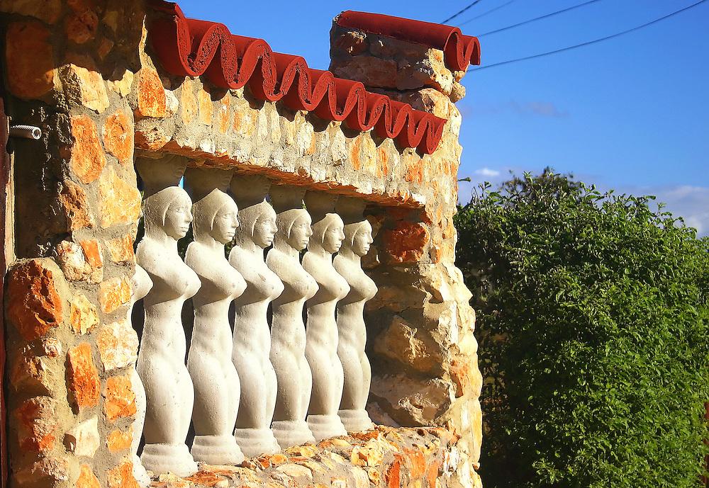 Balustrades with breasts in Santa Fe, Havana, Cuba.