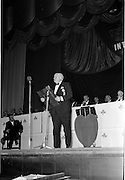 18/05/1962<br /> 05/18/1962<br /> 18 May 1962<br /> Presentation of Variety Club Awards at their International Convention in the Theatre Royal, Dublin. Picture shows Mr L. McDonnell, Chief Barker, speaking the event.