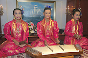 Welcome dinner aboard Star Flyer. Traditional Thai music.