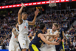 March 2, 2018 - Madrid, Madrid, Spain - Ahmet Düverio?lu (C) during Fenerbahce Dogus Istanbul victory over Real Madrid (83 - 86) in Turkish Airlines Euroleague regular season game (round 24) celebrated at Wizink Center in Madrid (Spain). March 2nd 2018. (Credit Image: © Juan Carlos Garcia Mate/Pacific Press via ZUMA Wire)